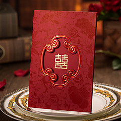 Tri-Fold Wedding Invitations 50-Invitation Cards Engagement Party Cards Artistic Style Hard Card Paper