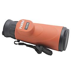 Panda 10X 50mm Waterproof Monocular Telescope w/ High Resolution Large Eyepiece - Orange + Black