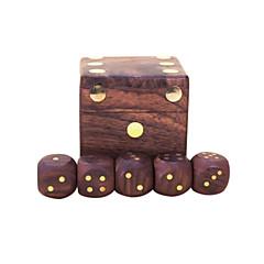 Royal St. dice completamente real madeira dice hua Limu embutidos passageiros de cobre em G151 chegou / g151a caixa de madeira com 22 mm