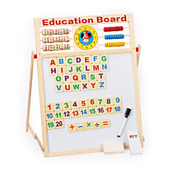 πολυλειτουργική μαγνητικό πίνακα γραφής, μαγνητικό διπλό ξύλινο μελέτη μαυροπίνακα, εκπαιδευτικά παιχνίδια για παιδιά