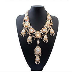 Fashion Atmospheric Gemstone Necklace Braided
