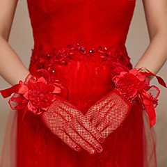 Wrist Length Fishnet Glove Polyester Bridal Gloves / Party/ Evening Gloves
