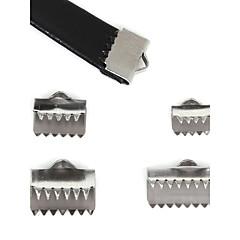 beadia 40szt zaślepki ze stali nierdzewnej& złącza& zagniatania koraliki pokrycie tworzenia biżuterii (mieszane 4 rozmiary)