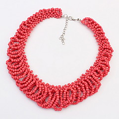 Sweet Temperament Exaggerated Beaded Necklace