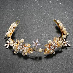 Vrouwen Kristallen Licht Metaal Imitatie Parel Helm-Bruiloft Speciale gelegenheden Hoofdbanden 1 Stuk