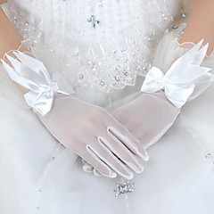 Wrist Length Fingertips Glove Tulle Bridal Gloves / Party/ Evening Gloves Spring / Summer / Fall White / Red