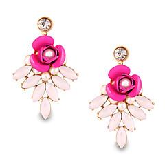 Lovely Personality Pearl Flower Rose Bohemian Beach Style Earrings