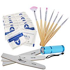 ferramenta prego levou kits de luz / remover a unha polonês / ferramentas vara unha cola polonês / luzes LED / escova de unhas