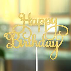 קישוטים לעוגה לא מותאם אישית לבבות נייר כרטיס יום הולדת קשת זהב נושא חוף / נושא קלאסי 1 OPP