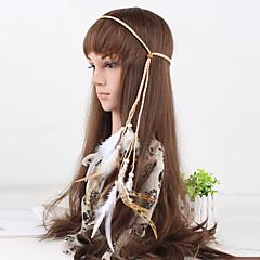 женские Чехи простые перо бисера сплести Headbands 1 шт