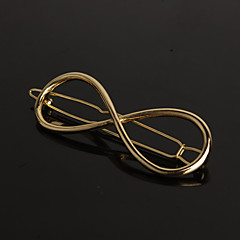 European Style Gold 8 Infinite  Shape Hair Clip Barrette Pins for Lady Casul Hair Jewelry