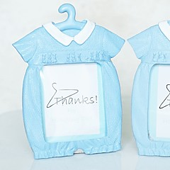 Beter Gifts® Recipient Gifts - Cute Baby Blue Themed Photo Frame Place Card Favor Party Décor