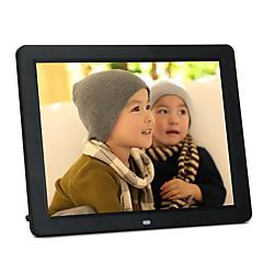 12 pouces cadre photo numérique 800 * 600 USB 2.0 avec horloge / musique ;support de jeu vidéo 14 langues du pays