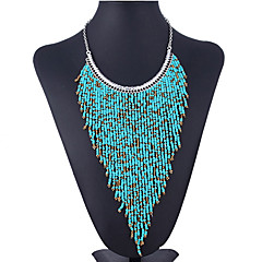 Women's Choker Necklaces Acrylic Rhinestone Fashion Bohemian Purple Green Blue Jewelry Party Daily Casual 1pc