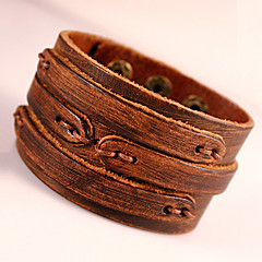 Herre Wrap Armbånd Læder Armbånd kostume smykker Mode Boheme Stil Yndig Håndlavet Læder Geometrisk form Smykker Til Fest Daglig Afslappet