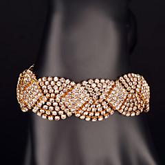 Bracelet Chaîne Doré Strass Femme