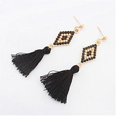 Stylish And Elegant Beads Diamond Tassel Earrings