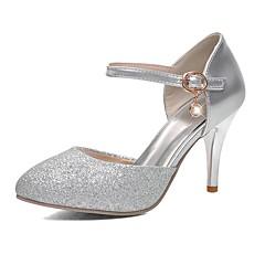 Lodičky-Třpytky-Podpatky / Špičatá špička-Dámská obuv-Stříbrná / Zlatá-Svatba / Šaty / Party-Vysoký