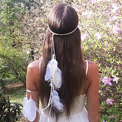 damesmode bohemen veer houten kralen hoofdbanden 1 stuk