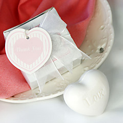 Beter Gifts® White Heart Soap Bridesmaids Shower, Bridal Wedding Favor