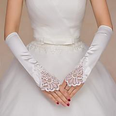 Operalængde Fingerløse Handske Polyester Brudehandsker Perler