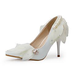 בלרינה\עקבים-נשים-נעלי חתונה-עקבים / שפיץ-חתונה / מסיבה וערב-לבן