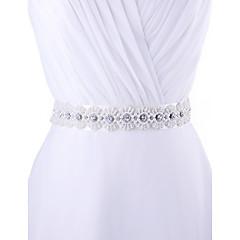 Satin Mariage / Fête/Soirée / Quotidien Ceinture-Billes / Appliques / Perles / Strass Femme 250cm Billes / Appliques / Perles / Strass
