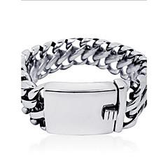 남성용 여성 체인 & 링크 팔찌 패션 개인 펑크 스타일 티타늄 스틸 보석류 보석류 제품 일상 캐쥬얼