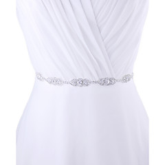 Satin Wedding / Party/ Evening / Dailywear Sash - Beading / Rhinestone Women's Sashes