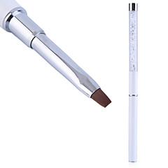 1個ネイルアートケアツール結晶ゲルペンブラシハンドルネイルアートツールのペンの滑り止めハンドル、柔らかい毛