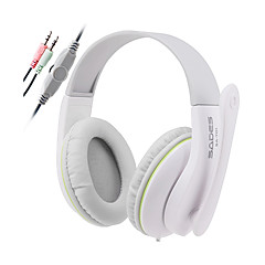 Sades SA701 Cascos(cinta)ForReproductor Media/Tablet / ComputadorWithCon Micrófono / DJ / Control de volumen / Radio FM / De Videojuegos