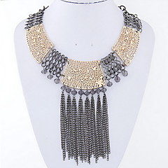 Women's Choker Necklaces Statement Necklaces Alloy Fashion Punk Silver Golden Jewelry Daily Casual 1pc