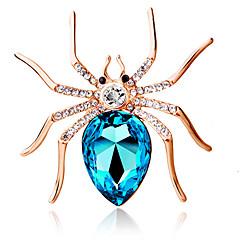 여성의 패션 개성 귀여운 큰 거미 브로치 크리스탈 다이아몬드 절묘한 브로치 보석 선물