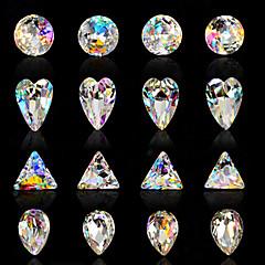 10st nail art luxe zeven kleuren kleurenspel buitenaardse ab diamant 16 stijl optioneel