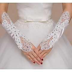 Elbow Length Fingerless Glove Polyester Bridal Gloves Spring / Summer / Fall / Winter lace