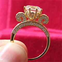 Alliances Mode Mariage Bijoux Argent sterling / Strass Femme Anneaux 1pc,5 / 6 / 7 / 8 / 9 / 8½ / 9½ / 4 Doré