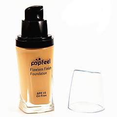 Flawless Coverage Whitening Moisturizer Concealer Contour Oil Free SPF15 Waterproof Finish Liquid Foundation BB Cream