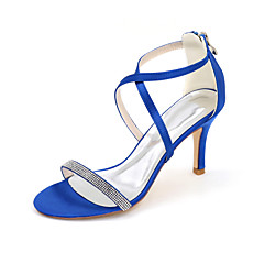 Women's Heels Spring / Summer / Fall Heels / Sandals / Open Toe Satin Wedding / Party & Evening / Casual