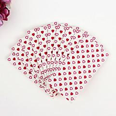 100% virgin pulp 50pcs Red Heart Wedding Napkins