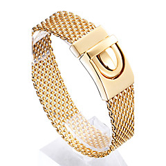 Homme Chaînes & Bracelets Mode Acier inoxydable Plaqué or 18K or Forme Géométrique Bijoux Pour Regalos de Navidad