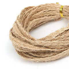 beadia ok 5mm splecione przewód juty naturalnego lnu do DIY biżuteria podejmowania Craft (5mts)