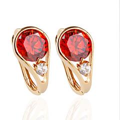 עגיל Circle Shape תכשיטים 1 זוג אופנתי חתונה סגסוגת נשים מוזהב / כסף