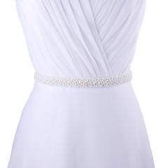 """סטן חתונה / מסיבה\אירוע ערב / לבוש ליום אבנט-חריזה / פנינים נשים 98 ½אינץ'(250ס""""מ) חריזה / פנינים"""