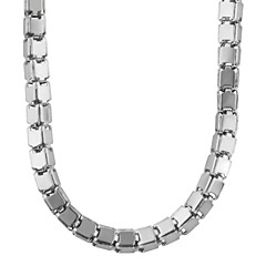 Trendy 316L Stainless Steel High Quality Necklace Women/ Men GIft Never Fade Square Box Chain Necklaces Jewelry N50039