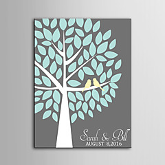 E-HOME®  Personalized Signature Canvas invisible Frame Print - A  Tree