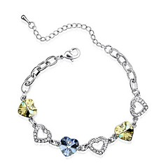 Thousands of colors Bracelet/Chain Bracelets Platinum Plated Heart Fashionable Daily Jewelry Gift Silver1pc