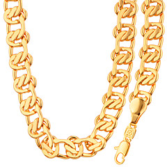 Fashion Jewelry Simple Unique Design 18K Gold/Platinum Plated Necklace&Bracelet Set For Men Or Women GiftNB60091