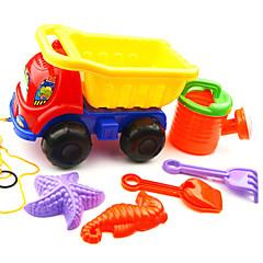6-Stücke Strand Sandspielzeug mit LKW, Wasserkocher, 2 Handwerkzeug und 2 Modelle setzen
