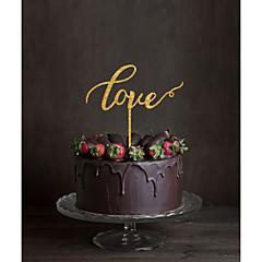 Décorations de Gâteaux Non personnalisée Monogramme Acrylique Mariage Fleurs Noir Thème classique 1 Boîte à cadeau