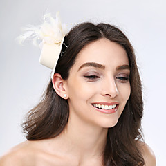 Women's Feather / Tulle / Fabric Headpiece-Wedding / Special Occasion / Casual Fascinators 1 Piece